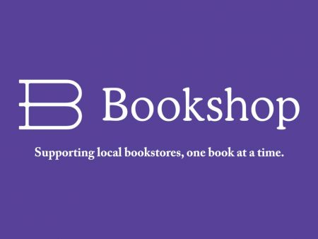 """Logo for Bookshop.org with caption """"Supporting local bookstores, one book at a time."""""""